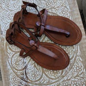 Frye T Strap Sandals